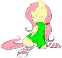 MLP FIM - Fluttershy in socks by vaidg