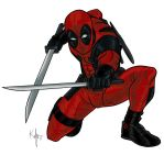 Deadpool Red by Kaufee