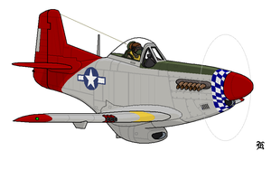 P-51 Tuskegee Airmen by darthpandanl