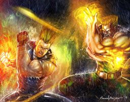 Paul Vs Guile by Grapiqkad