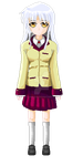 Kanade Tachibana (Angel Beats) - Pixel Art by Lakelezz