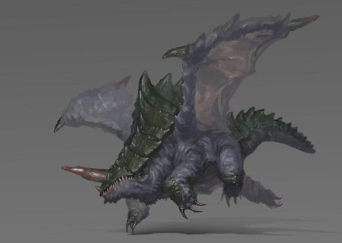 Dragon Rhino Thing by giantwood