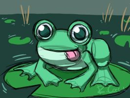 Frog doodle by rongs1234
