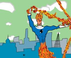 Human Torch by MrOneEars