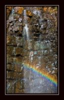 Waterfall and Rainbow by WiseWanderer