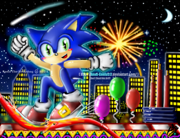 Sonic in fireworks adventure by Amel-Genius17