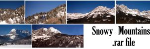 Snowy Mountains by syccas-stock