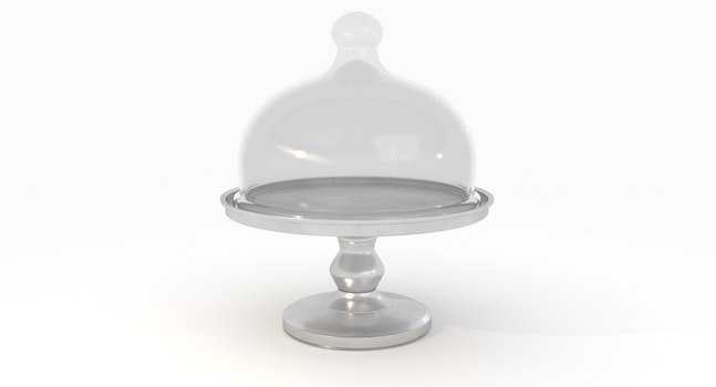 Cake Stand 3D Model by Vuel