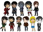 All of the Chibis by AliciaMuhm