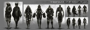 Cyberpunk Character Sheet by artificialdesign