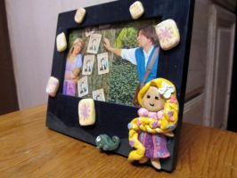 Tangled Polymer Clay Photo Frame by Ringo-Chu