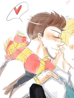 Stony || school!au Sketch by Skkiier