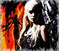 Game of Thrones  Dragon queen by xenom0013