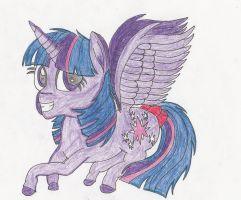 Pretty purple book horse by ThePegasusEffect