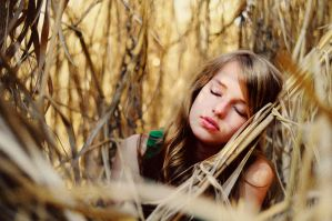 girl in the reed by LauraZalenga