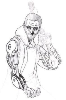 Cyborg Smuggler character concept by vytera