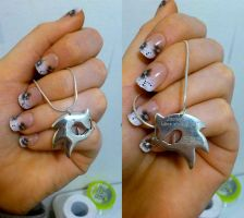 - My Solid Silver Sonic Necklace - by sonicwindartist