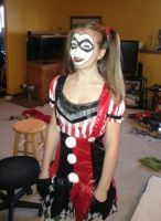 Harley Quinn Face Paint by MissaDee