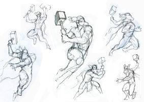 Thor sketches for Fuzion Game pt1. by m0zch0ps