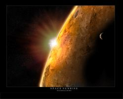 Space Sunrise by Balboulloude