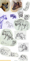 Hyenas sketchdump by Frozenspots