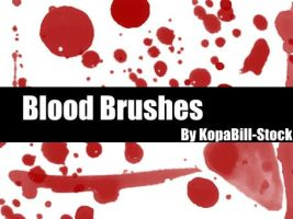 Blood Brushes by KopaBill-Stock