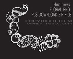 FLORAL DESIGN PNG FILE TRANSPARENT - by TheArtist100