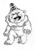 Clown Bear Agressive by Macguffin
