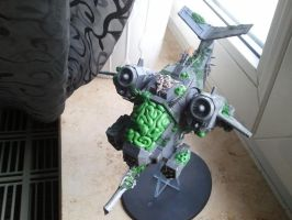 warhammer choas deathguard heldrake conversion by skincoffin