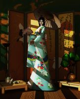 Geisha In Blue by merage
