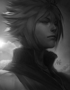 Cloud portrait by Artgerm