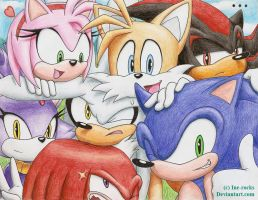 Sonic group shot - Say cheese by ine-rocks