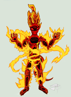 Fire Elemental Character by Bariosu