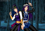 Sonette and Aleena - Con Artist by MilesPrower2011