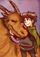 A Boy And His Dragon by KiiruSama