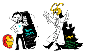 tony stark and loki by sw-e