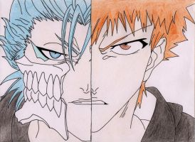 grimmjow and ichigo from bleach by Acey-kakarot-michael