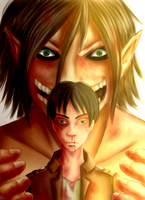 Eren and Titan by AshtonLi