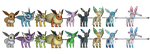 Pokemon X/Y - Eeveelution pack by o0DemonBoy0o