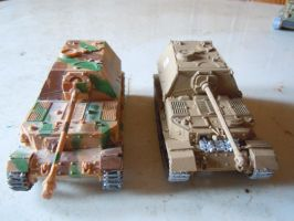Italeri vs dragon Elefant tank by warrior1944