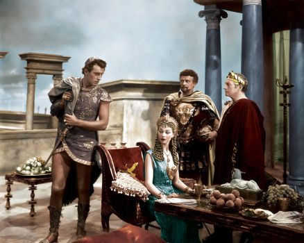Caesar and Cleopatra Colorized by TheOtherCraftLord