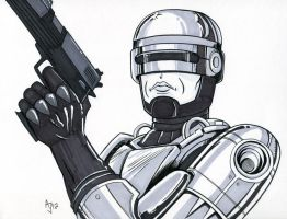 Robocop Sketch by AtlantaJones