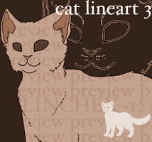 CAT LINEART 3 by flinchex