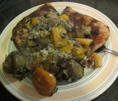 Chicken w. Persimmon, Butternut, Plantains, Rice 5 by Windthin