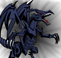Red Eyes Black Dragon Coloured by reaver570