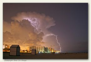 Isolated thunderstorm 2 by bartdebruyn