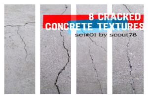 8 cracked concrete textures by scout78