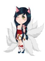 Ahri chibi comission by WiskyLittle
