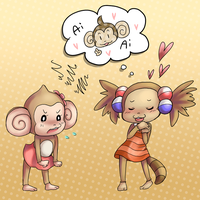 i wanted to draw monkeys by cafechan