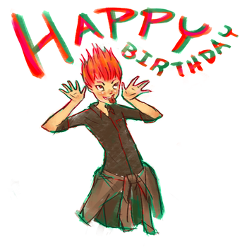 A Happy Birthday from Red by EtchedFall